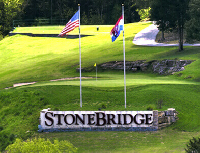 STONEBRIDGE SIGN WITH FLAG POLE
